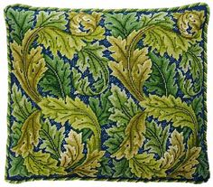 click here to view larger image of Acanthus Leaves - Pillow/Chair Seat Green Version (needlepoint kits)
