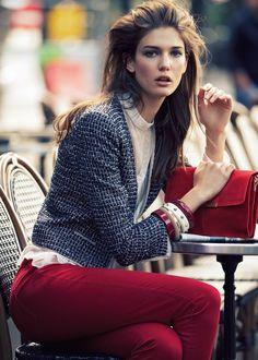 Kendra Spears for Mango Fall 2012 Catalog #boucle jacket
