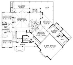 This exquisite Cottage style home with Ranch characteristics (Plan #198-1050) has 2184 square feet of living space. #houseplan #Ranch