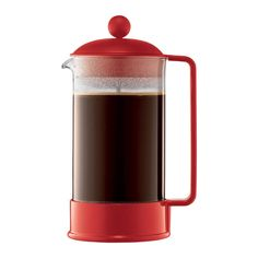 Bodum Brazil 8-cup French Press Coffee Maker, Red
