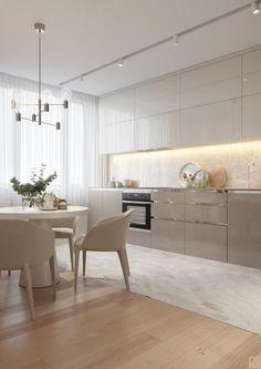Trendy home kitchen white interior design Ideas Kitchen Room Design, Best Kitchen Designs, Modern Kitchen Design, Home Decor Kitchen, Interior Design Kitchen, Home Kitchens, Kitchen Ideas, Modern Design, Kitchen Colors