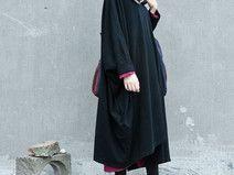 【BLACK】Asymmetric Maxi Dress Plus Size Long Gown
