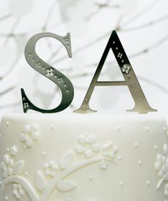 Brushed Silver Monogram Set With Crystals Wedding Cake Topper Monograms with Crystals] : Wholesale Wedding Supplies, Discount Wedding Favors, Party Favors, and Bulk Event Supplies Letter Cake Toppers, Monogram Cake Toppers, Custom Wedding Cake Toppers, Monogram Wedding, Monogram Logo, Monogram Letters, Wedding Monograms, Letter Logo, Monogram Initials