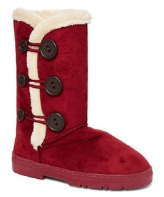601ada0a101 Chatz by Chatties Burgundy Side-Button Boot - Women
