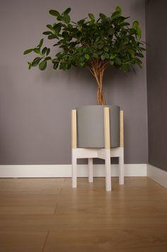 Kwietnik,stojak na donice, dwa kolory - LaLu - Lady_Lumberjack - Dekoracje