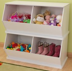 KidKraft White Double Storage Unit - SensoryEdge - 1