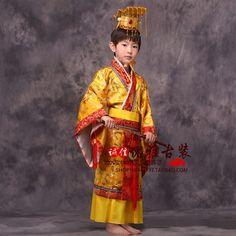 ancient boys china chinese emperor costume hat + dress emperors prince robe…
