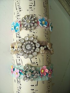 Bracelets made from vintage jewelry  hollydoodledesigns.com