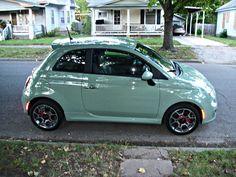 My new car, Fiat 500 Sport, I named her 'Miss Mint'