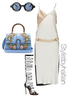 """""""Untitled #156"""" by stefanieshade on Polyvore featuring Dsquared2, Chanel, Gucci, DKNY and Maison Mayle"""