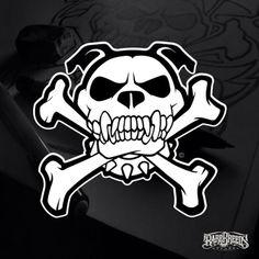 Outline Drawings, Cool Art Drawings, Skull Design, Logo Design, Pitbull Drawing, Wonder Woman Drawing, Bulldog Mascot, Dog Branding, Free Art Prints