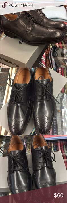 Johnston & Murphy Men's Leather Beckwith Wingtip Johnston & Murphy Men's Leather Beckwith Wingtip - black leather Johnston & Murphy Shoes Oxfords & Derbys