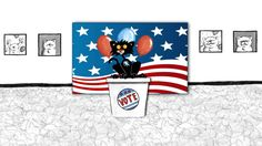 It's election season! The cats on Main Street are split along party lines. Will Bad Kitty really be elected to. Watch here on kidlit. Winter Bulletin Boards, Library Bulletin Boards, Preschool Bulletin Boards, Library Book Displays, Library Books, Bad Cats, Bad Kitty, Elementary Library, Book Trailers