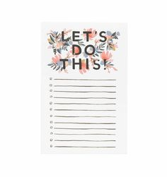 RIFLE LET'S DO THIS NOTEPAD