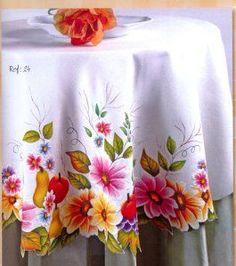 mantel florecitas 35 bs