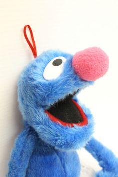 GROVER-Stuffed-Plush-Blue-Sesame-Street-Monster-Child-Lovey-Toy