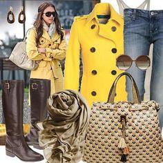 casaco amarelo cor do inverno 2012