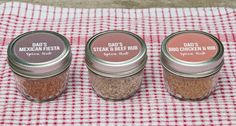 Father's Day Spice Rub DIY: Mexican Fiesta, Steak & Beef, and BBQ Chicken & Rib