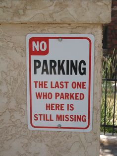 Got to love a good fun camping sign!... Be careful where you park your RV or motorhome! ;)