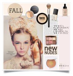 Fall Beauty: Nude Color Palette by ewa-naukowicz-wojcik on Polyvore featuring beauty, Guerlain, Maybelline, Bare Escentuals, Hourglass Cosmetics, Giorgio Armani, NARS Cosmetics, MAC Cosmetics and newnudes