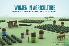 Women in Agriculture inforgraphic from the Bill and Melinda Gates Foundation from @SocialGoodMoms