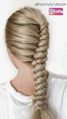 round braid tutorial - All For Simple Hair Cool Braids, Braids For Long Hair, Hair Upstyles, Braided Hairstyles Tutorials, Rope Braid Tutorials, Waterfall Braid Tutorial, Fishtail Braid Hairstyles, Hair Tutorials, Hairstyle Ideas