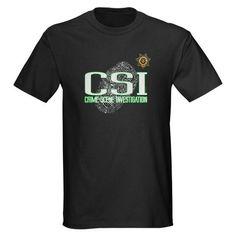 CSI CRIME SCENE INVESTIGATION. Cool design TV show police department badge fingerprint text http://www.cafepress.com/la_tees/2274460