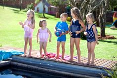 The perfect swimsuit for young water babes aged 1 years who are gaining confidence in the pool. Swim Safe, Pool Toys, Water Toys, How To Gain Confidence, More Fun, Baby Kids, Swimsuits, Swimming, Mom