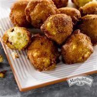 Fresh Corn Fritters from Martha White®  Also pinned Martha Stewart, will try both for a Martha-Bakeoff!