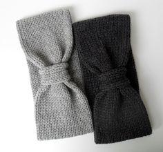 100 Merino Knit Headband in Charcoal Gray by IRISMINT