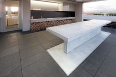 modern and super cool outdoor kitchen