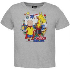 Caillou - Baby Boys Magician Toddler T-Shirt - 3T Grey  Available Now at Amazon.com/Caillou http://www.amazon.com/dp/B00HJ9OPQU/ref=cm_sw_r_pi_dp_Nkc6sb10C9DYWKR6 #Kids #Fun #Gift #Magic #Fashion #Clothes #Caillou