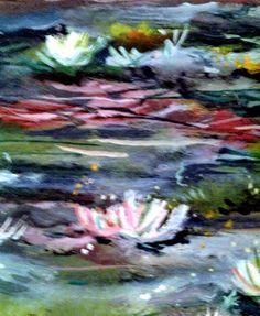 Original oil on paper by Impressionist, Julie Tucker-Demps.