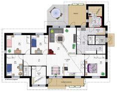 Tuomas 147 | Mittava Koti Humble Abode, Future House, Floor Plans, Construction, How To Plan, Architecture, Building, Buildings, Architecture Illustrations