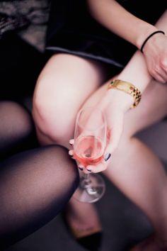 pink wine, girls, classy