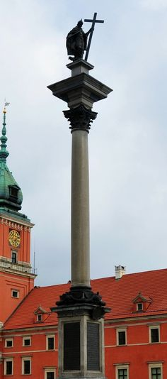 Column of Sigismund III Vasa in Warsaw commissioned by Ladislaus IV Vasa and created between 1643 and 1644 by Constantino Tencalla, Clemente Molli and Daniel Tym
