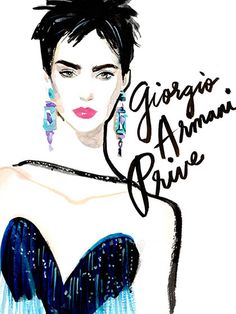 Couture Fashion Week 2015 - Armani Prive Illustration
