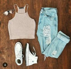 Teen fashion outfits, new outfits, everyday outfits, cute fashion, fashion Cute Comfy Outfits, Teen Fashion Outfits, Cute Casual Outfits, Cute Summer Outfits, Cute Fashion, Stylish Outfits, Girl Outfits, Fashion Mode, Fashion Ideas