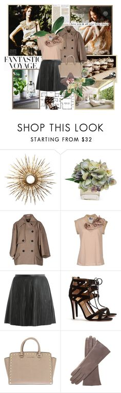 """""""Love is like a beautiful flower which I may not touch, but whose fragrance makes the garden a place of delight just the same."""" by aurumx ❤ liked on Polyvore featuring Franklin, H&M, The French Bee, Miu Miu, Lanvin, TIBI, Aquazzura, MICHAEL Michael Kors, Snsd and yoona"""