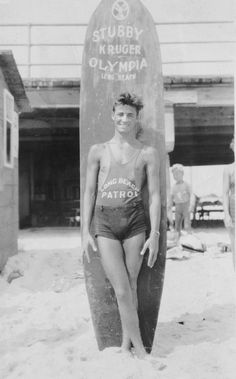 Lifeguard in Long Beach, CA, 1920's