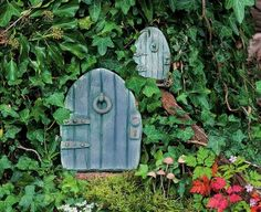 fairy garden doors | Even putting something as simple as miniature