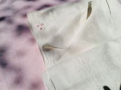 Gorgeous #Victorian French Off White #Damask Thick Cotton #Tablecloth Crucifix…