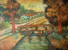 O canal e a ponte by Anita Malfatti (Brazil)
