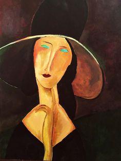 Vrouw met hoed door JudeOnJacob op Etsy