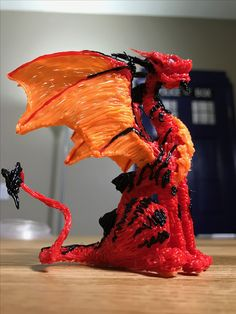 3-D printing pen dragon made by KiwikoiOriginals
