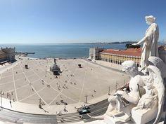 360º view from Rua Augusta Arch, the brand new viewpoint in Lisbon / Vista de 360º do Arco da Rua Augusta, o novo miradouro de Lisboa #portugal