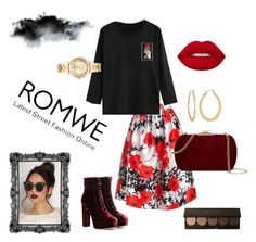 """Rose t-shirt"" by bianca29antonioli ❤ liked on Polyvore featuring Jimmy Choo, Sans Souci, Natasha Accessories, Michael Kors, Fragments and Lime Crime"