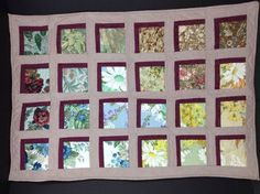 Handmade Quilt Nature Peek Outside Wall Table Art Flowers Trees Rocks