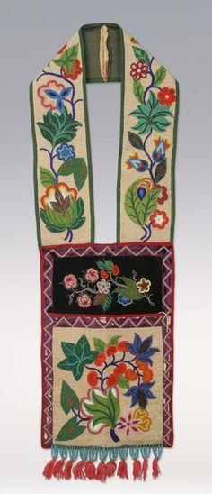 beaded bandolier bag | Chippewa | Great Lakes region: U.S.A. + Canada | c. 19th century