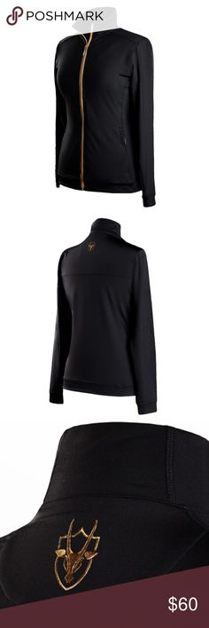 Coates Golf Black Thermal Jacket with Gold Zipper Perfect choice for full mobiity warmth while remaining lightweight and low-profile. The exterior dry-wicking fabric is lined with sporting mesh for light protection from the elements without adding bulk. Ask me how to get free shipping and 10% off! Coates Golf Jackets & Coats Utility Jackets